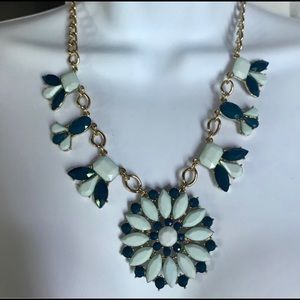 J CREW Blue and gold statement necklace